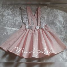 Dungaree Skirt, Dungarees, Girls Dresses, Flower Girl Dresses, Embroidery, Wedding Dresses, Skirts, Projects, Fabric