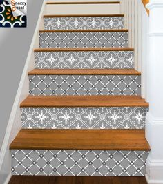 Decorative Stair-riser is hot in latest home decorating scene, we have make it easy for you to uplift your stairs in just a peel away. These strips are self adhesive and can be removed easily without damaging the surface. Perfect for rented home and best solution to cover up unsightly old stair and make it into a conversation master piece!  You will receive 15 STRIPS that cover 15 steps, each strip measures 40in (100cm) in length. Choose the height from either 5in(12.7cm), 5.5in…