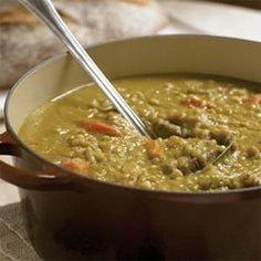 Lentil Barley Potato Soup