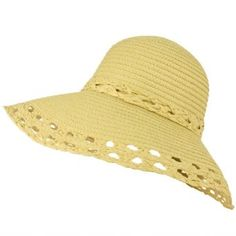 Wide Large Flip Up Down Brim Wok Style Beach Summer Bucket Floppy Sun Hat Natural SK Hat shop. $14.95