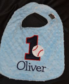 Baseball Birthday Bib First Birthday 1st by sunshinedaydream4u, $19.95
