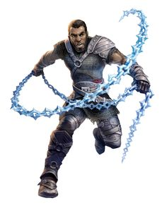Male Human Spiked Chain Rogue - Tavoul Abramos - Pathfinder PFRPG DND D&D d20 fantasy