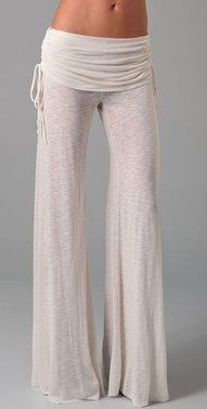 Flowy pants. Not in white, but I loooove this pair. So flowy! For more ideas see Style.