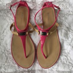 BCBG fuchsia jelly sandals BCBG fuchsia jelly sandals. Worn once. All man made materials. BCBGeneration Shoes Sandals