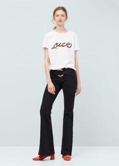 Message t-shirt - T-shirts for Women | MANGO USA