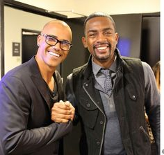 Shemar Moore and Bill Bellamy back stage at the Arsenio Hall Show