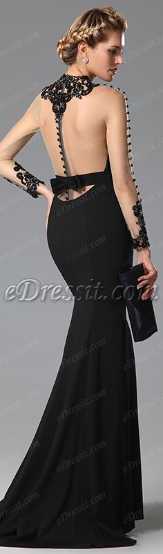 Catch a gorgeous look in this stunning black dress! #edressit #dress #gown #fashion
