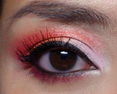 Tangerine Cocktail: Pink and Coral Spring Eyeshadow...I will have to try this