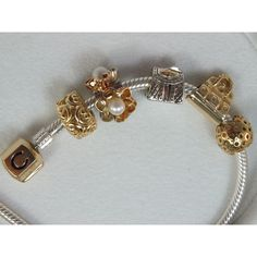 Chamilia 14kt Gold Crescent Moon - CHARMS from Charm Heaven UK