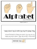 ASL Sign Language File Folder Game