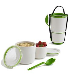 This stylish take on a tiffin ensures you don't end up with a bag slathered with salad dressing or soaked with soup.