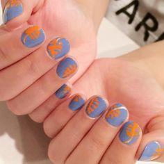 Cute nails of the day.   @purplenailbox  #painted #polished #mani #nails #nailcare #nailstagram #nailart #cutenailart #summernails #manicure #naildesigns #naillacquer #nailsdone