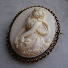 ⊙ Cameo Cupidity ⊙ Ivory Bacchante ca. 1870 French (Dieppe)