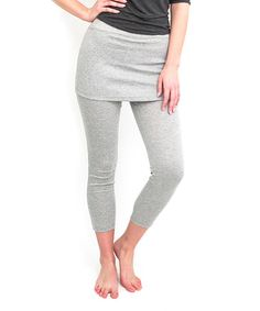 Look at this #zulilyfind! Gray Skirted Leggings - Women & Plus #zulilyfinds