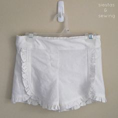 Ruffle Shorts Tutorial