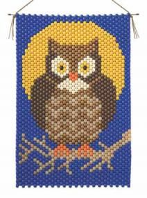 Owl Beaded Banner Kit The Beadery Craft Products 5858 Pony Beads