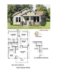 A great cabin floor plan. Awesome kitchen and loft! | Cape Cod Plans ...