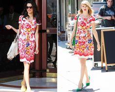 Twins! Taylor Swift and Amal Alamuddin Wear the Same Oscar de la Renta Frock…