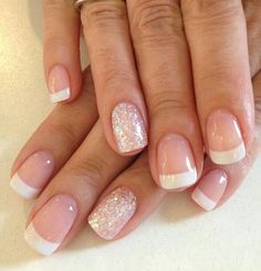 Clean French style.  #frenchnails #frenchmanicuredesign