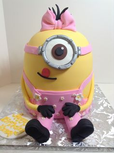 Girly minion birthday cake, Sugarnomics Cake Studio Guam