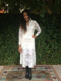 Love this dress - I'd do 30's style accessories, too. 1930s lace wedding dress hand made by IRONWOODNATIVEWEAR on Etsy