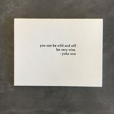 Letterpress greeting card. Made in Los Angeles.