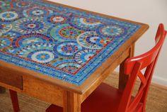 Tabletop mosaic by Martina Escudera-Wolf