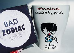 Bad Zodiac Mug / Aries Zodiac Mug / Funny Mug by 39Cups on Etsy, $14.95
