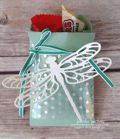 Hello!! Today I'm going to share 2 of the display stampers projects I made. The stuff that I got to work with was the Dragonfly Dreams stamp...