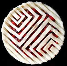 Geometric pie crust ideas
