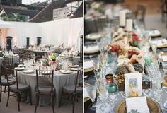 Love this eclectic coral, grey and seaglass, beachy wedding.