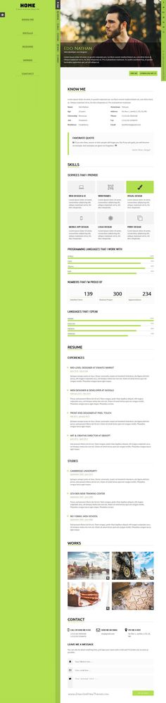 Resume Html Template Legend Personal Portfolio Html Template  Personal Portfolio And