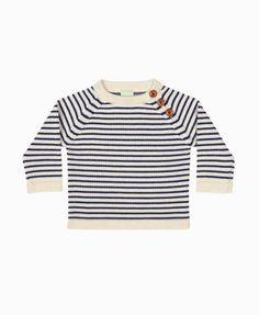 FUB klassisk baby sweater - ecru navy
