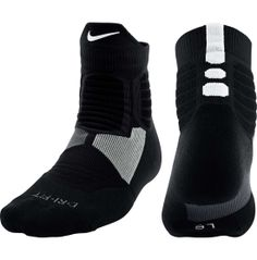 Before you hit the court, throw on a pair of Nike® Hyperelite High Quarter Basketball Socks for dynamic impact protection. Featuring multi-density cushioning throughout the sock, it responds to your every move so you stay a step ahead of competition during a breakaway play. The Nike® Hyperelite High Quarter sock's Dri-Fit fabric wicks away moisture from your skin, while the reinforced heel and toe supports wear for many seasons to come.