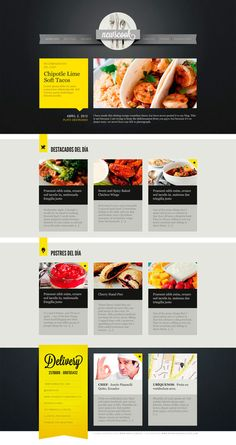 NewsCook Newsletter by Vanessa Zúñiga, via Behance