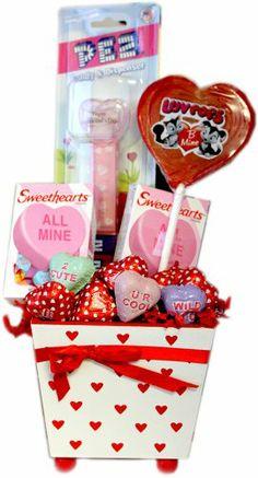 Wooden Valentine Planter Candy Assortment - http://mygourmetgifts.com/wooden-valentine-planter-candy-assortment/