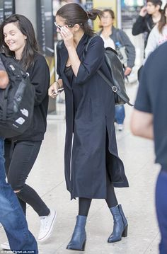 """Standing tall: Selena added some extra height to her 5ft 4"""" frame with a pair of blue ankl..."""