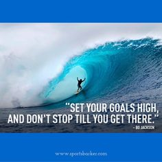 """""""""""Set your #goals high and don't stop till you get there"""" #sportsbarker #quotesoftheday #wuotestoliveby #quotes #motivationalquotes"""" Photo taken by @sportsbarker on Instagram, pinned via the InstaPin iOS App! http://www.instapinapp.com (09/20/2015)"""
