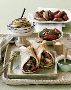Sausage, Peppers, and Onion Gyro