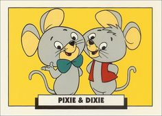 Hanna-Barbera cartoon: Pixie and Dixie, the mice, were chased by Mr. Jinx the cat, who would say grammatically incorrect phrases such as 'I hate you meeses to pieces! Classic Cartoon Characters, Favorite Cartoon Character, Classic Cartoons, Cartoon Logo, Cartoon Tv, Hanna Barbera, Vintage Cartoons, Old School Cartoons, Saturday Morning Cartoons