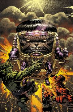 Fall of the Hulks: Alpha #1 variant cover by David Finch