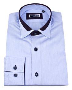 Men's designer shirts - Lyon milleret blue   UrUNIQUE.com