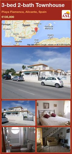 3-bed 2-bath Townhouse in Playa Flamenca, Alicante, Spain ►€135,000 #PropertyForSaleInSpain