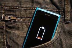 Phone in trouser pocket