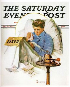 """""""The Cold"""" or alternative title """"Missing the Dance"""" by Norman Rockwell, 1937 