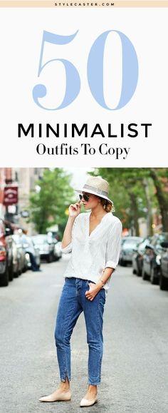 The most stylish minimalist outfits to copy | @stylecaster | StyleCaster