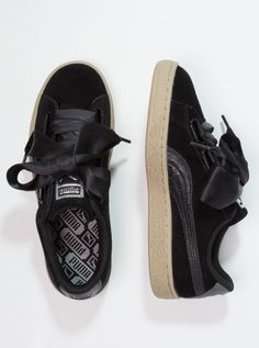 Puma Suede, Safari, Sneakers, Shoes, Black, Essentials, Heart, Inspiration, Fashion