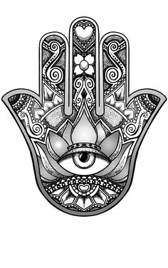 hamsa hand design by andywillmore - Hand Nail Ideas Retro Tattoos, Trendy Tattoos, Tattoos For Women, Tattoo Women, Vintage Tattoos, Hamsa Design, Hamsa Tattoo Design, Tattoo Designs, Hamsa Hand Tattoo