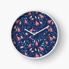 Modern Prints, Art Prints, Floral Texture, Quartz Clock Mechanism, Hand Coloring, My Arts, Printed, Metal, Awesome