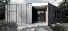 Diaz y Diaz Arquitectos. Galicia A Coruña. Zinc - hormigón - madera. Vivienda - unifamilar - diseño - entrada / Zinc - stone - wood. Roof. Facade. Entrance. Family house. Design architecture